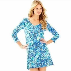 Lilly Pulitzer Erin After Party Blue Crush Dress